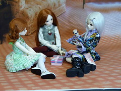 Kat and her cousins (bluepita) Tags: akon dollakon bjd abjd asian ball jointed doll luts kid delf kdf mdf 14 mini wintery 13 winter event 2013 normal skin