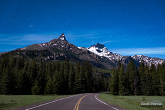 Twin Peaks (kevin-palmer) Tags: june summer spring nikond750 tamron2470mmf28 absarokamountains beartoothhighway road pilotpeak indexpeak moonlit moonlight evening night sky stars starry blue trees forest pine clouds green grass beehivecluster gemini castor pollux