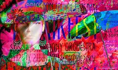 The Music Festival (abstractartangel77) Tags: brightonfringefestival music mannequin parasols textart poster advertisement