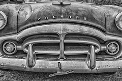 Packard B&W (D E Pabst Photography) Tags: packard automobile rust decay abadoned