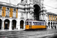Commerce Square, Lisbon (german_long) Tags: commercesquare lisboa portugal lisbon tram tranvía yellow
