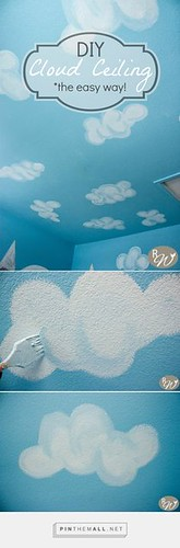 DIY cloud ceiling, t