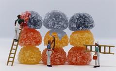 Sweet work. [Relaxation -Macro Monday] (Marcello-dell'Aquila) Tags: lavoro colori zucchero pittura caramelle pittori