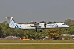 G-JECR DHC-8Q 402 Flybe MAN 11-05-17 (PlanecrazyUK) Tags: egcc manchester man ringway manchesterairport gjecr dhc8q402 flybe 110517