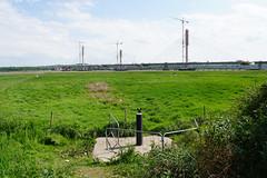 Widnes Warth and Mersey Gateway under construction (Bill Boaden) Tags: cheshire mersey widnes warrington