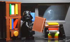 """You know what I like more than my Death Star?"" (RagingPhotography) Tags: d3300 lego death star wars empire darth vader imperial galactic dank meme memes knowledge books plastic toys minifigure minifig shelf smart funny laugh laughter humor ragingphotography"