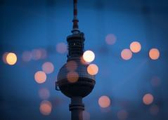 Saturday-Night-Alex (marionrosengarten) Tags: alex berlin alexanderplatz parkinn sparkle bokeh lights flickrmeeting bluehour saturday evening nikon