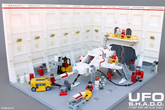 UFO | S.H.A.D.O. maintenance bay (Andrea Lattanzio) Tags: ufo shado interceptor space foitsop classicspace lego legospace spaceship spacecraft norton74 bay hangar maintenance scifi tv tvseries jerryanderson