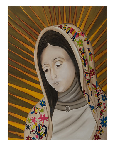 Autor: LAZARO LEON PAVANA, La Virgen  70x50 cm