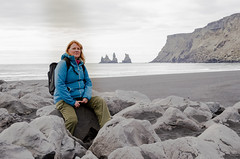 Relaxing in Iceland (Tony_Brasier) Tags: icecold iceland island cold sea mountains rocks raw sue coat bag woman sand black games thrones nikon d7200 16mm85mm fun fishing flickr