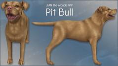 JIAN Pit Bull WIP ([JIAN]) Tags: jian pet dog canine companion thearcade secondlife wip workinprogress