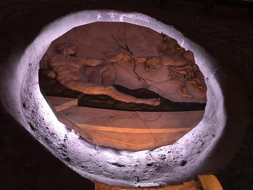 'La Creación de Adán' by Carlos E. Rodríguez Arango, La Catedral de Sal, Zipaquirá, Colômbia.