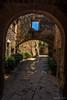 Arcos y piedra (allabar8769) Tags: arcos calle casas girona monells puerta soportales