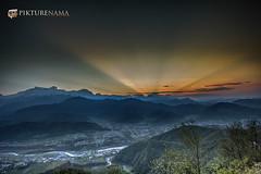 sarangkot- sunrise-7 p logo (anindya0909) Tags: nepal sarangkot sunise sunrise