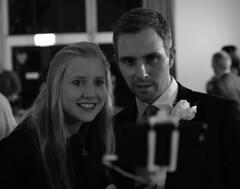 Selfie (MattBrumSaunders) Tags: selfie wedding funny funnyface bestman nikon d3200 blackandwhite