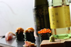 Sushi and sake by newandrew, on Flickr