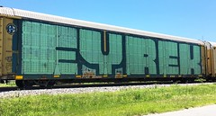 Eyrek (MC. Squared) Tags: roller graffiti autorack wholecar eyrek