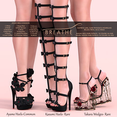 [BREATHE]-Ayame,Kasumi & Takara ([Breathe]) Tags: breathe secondlife mesh heels thearcadegacha