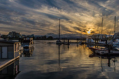 Sunset - Victoria Harbour (KVSE) Tags: pacific harbour marina sunset pacificocean water ocean reflection calm serene quiet clouds cans2s