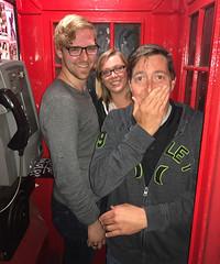 London Phone Booth - Josh, Shannon, Patrick (Rob Lee) Tags: london england phone booth josh patrick shannon smells bad