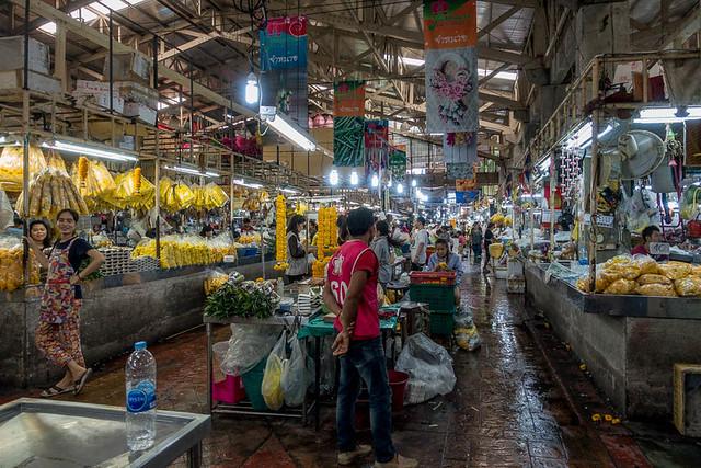 Marché aux fleurs, Bangkok large image