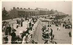 North Promenade & Sands from the east, Withernsea 1912 (archive ref PO-1-159-27) (East Riding Archives) Tags: seaside holiday holidays coast coastal resort resorts town towns tourism tourists withernsea beach promenade crowds crowd people