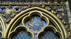 Sainte-Chapelle, quatrefoil with martyred saint