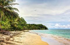 abandoned beach (Simhai) Tags: beach costa rica national park cahuita abandoned palm sky hdr