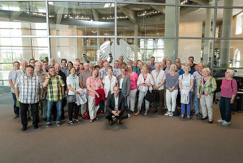 Eine gruppe von politisch Interessierten aus der Heimat habe ich in Berlin begrüßt. Foto: Bundesregierung / Arge GF-BT GbR