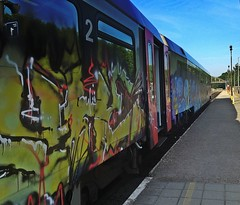 The graffiti train (debeeldenplukker) Tags: graffiti train graffititrain iphone4s iphonephotography iphoneography
