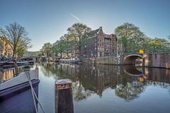 (angheloflores) Tags: amsterdam brouwersgracht canal houses bridge lights sunrise colors city travel architecture urban explore netherlands