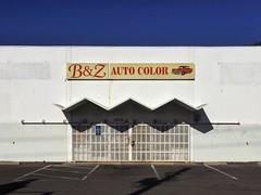 -VVVV- (misterbigidea) Tags: bulding shadow wning entrance bz autocolor business automotive sign car blue sky zigzag pattern architecture facade city urban cityscape squiggle lines