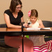 Kindergartner Anna Grace Vogtner reads her winning story