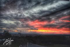 The Bleeding Sky (zamihossain) Tags: sunset nikon d3100 landscape canberra australia scenic sky drama