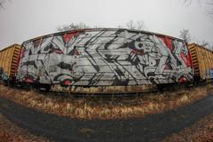 4Sakn (NJphotograffer) Tags: graffiti graff trackside track railroad rail art freight train bench benching boxcar box car wholecar 4sakn sakn cbs md crew