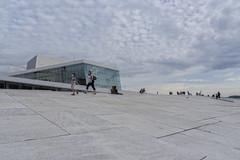 Evening at the Oslo Opera House, Norway (Ingunn Eriksen) Tags: oslo norway oslooperahouse clouds sky people nikond750 nikon