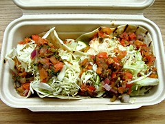 Fish Tacos (knightbefore_99) Tags: fish taco tacofino hipster fake hastings vancouver imitation lame filling salad hippie bland crappy food lunch takeaway takeout