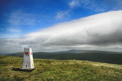 An improving day (OutdoorMonkey) Tags: summit hill hilltop trigpoint weather bluesky blueskies cloud fannedd penyfan breconbeacons nationalpark wales countryside landscape rural outside outdoor