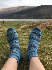 Shoreline socks (What I saw...) Tags: loch arkaig highlands scotland drops garn shoreline socks handknit knitted yarn wool knit