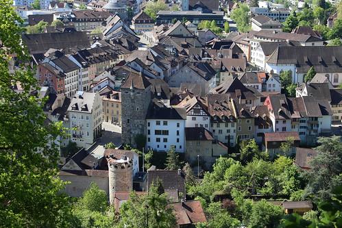 Blick zur Altstadt von Brugg