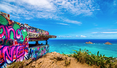Lanikai Hawaii (meeyak) Tags: lanikai oahu honolulu kailua pillbox hike hiking adventure travel vacation outdoors spring warm colors blue aqua usa island meeyak nikon d800 greatview view nike ocean hawaii