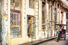 Havana Bike Taxi (Paul Thompson Photography) Tags: hdr habana havana cuba city cuban bike taxi street stunning streets paulthompson photomatix paul photography photographer portrait poverty