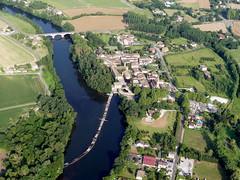 Bioule (François Magne) Tags: ulm pendulaire vue aerienne village église rue ruelle pont tarn tarnetgaronne bioule bastide