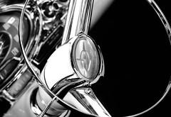 orbital... (Stu Bo) Tags: canon certifiedcarcrazy classiccar coolcar canonwarrior car chrome vintagecar vintageautomobile artisticexpression beautiful blackandwhite bw bnw dreamcar streetrod steeringwheel monotone nocolor