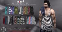 Ascend - Smith Tank with jacket on Shoulder add-on (AscendSL) Tags: secondlifecom secondlife sl fashion men man tanktop invincible anton ascend