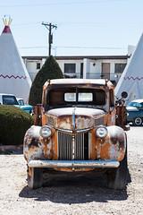 Once was orange (A Different Perspective) Tags: arizona holbrook usa car classic motel orange rust wigwam