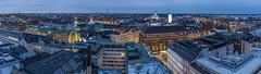 Helsinki Panorama (davidcl0nel) Tags: canon canon5dmarkiii 2017 ef35f2isusm 35mm helsinki finnland suomi panorama night bluehour rooftops street streets ateljeebar hoteltorni