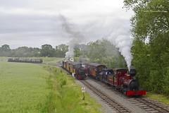 Fiji & Saccharine (TimEaster) Tags: statfoldbarnrailway sbr narrowgauge steam loco train polephotography pole hudswellclarke fiji saccharine fowler statfold