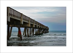 Jack's Pier (prendergasttony) Tags: sand florida usa america nikon d7200 outdoors nature pier water sea sky clouds blue waves wood vacation holiday day elements process photoshop seascape