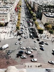 From above Arc de Triomphe, Paris (steffigault) Tags: france paris arcdetriomphe